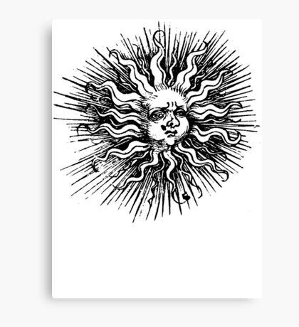 woodcut sun Canvas Print