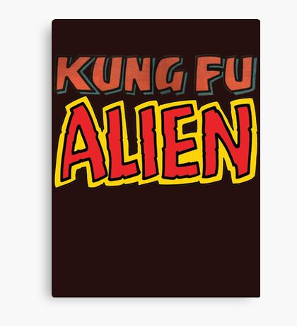 kung fu alien Canvas Print