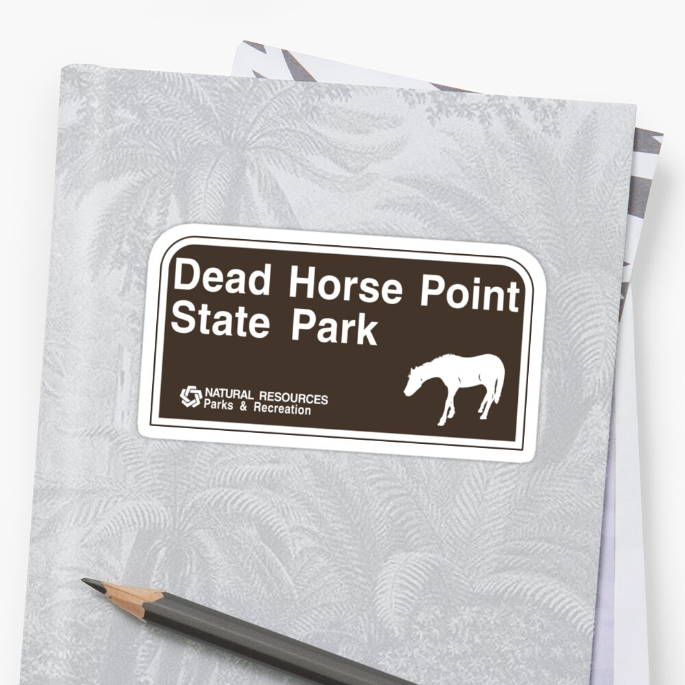 Dead Horse Point State Park Sign by worldofsigns