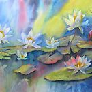 On Sunlit Pond by bevmorgan