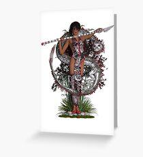 Eastern Goddess ~ Silver Dragon Greeting Card