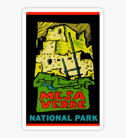 Mesa Verde National Park Vintage Travel Decal Sticker