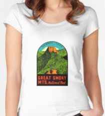 Great Smoky Mountains National Park Vintage Travel Decal 2 Women's Fitted Scoop T-Shirt