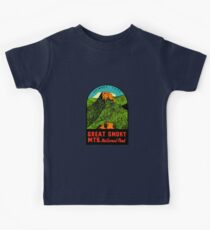 Great Smoky Mountains National Park Vintage Travel Decal 2 Kids Tee