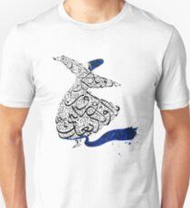 Rumi Calligraphy Blue Unisex T-Shirt