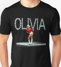 Olivia Newton-John Totally Roller Skating with diamonds Unisex T-Shirt