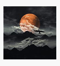 mars above mountains Photographic Print