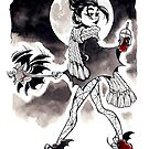 Casual vampire girl by asurocks