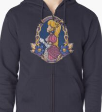 Stained-Glass Peach Zipped Hoodie