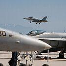 F 18 Super Hornet Preparing to Land by Buckwhite