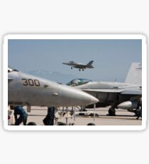 F 18 Super Hornet Preparing to Land Sticker