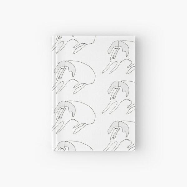 One Line Dog / Black & White Hardcover Journal