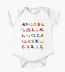 Fast Food Alphabet One Piece - Short Sleeve