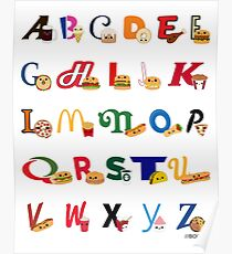 Fast Food Alphabet Poster
