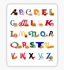 Fast Food Alphabet Sticker