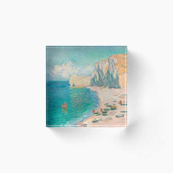 The Beach and the Falaise d'Amont Acrylic Block