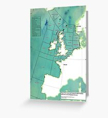 UK Shipping Forecast Map Greeting Card