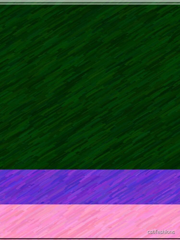 Green, Purple, Pink by csbfashions