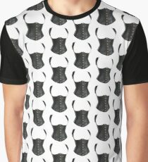 Leather Corset Graphic T-Shirt