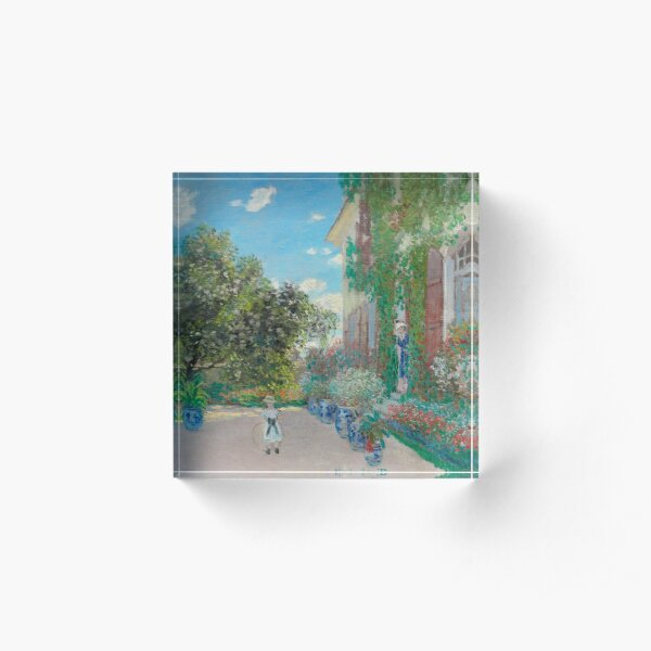 The Artist's House at Argenteuil Acrylic Block