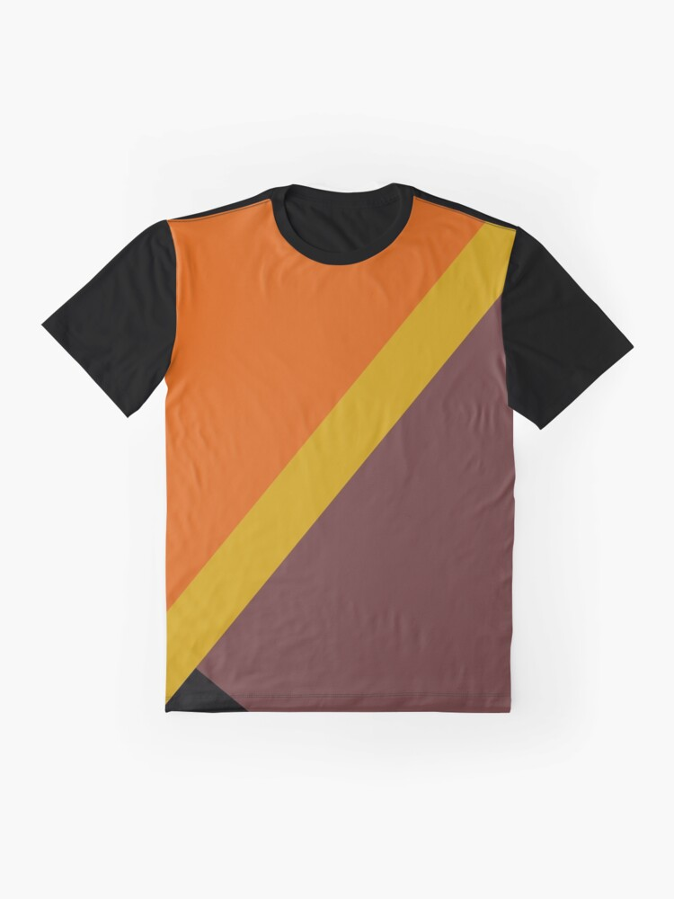Alternate view of Autumn Colored Design Graphic T-Shirt