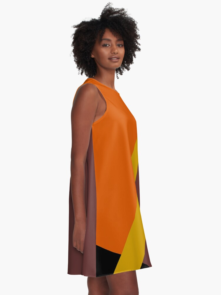 Alternate view of Autumn Colored Design A-Line Dress