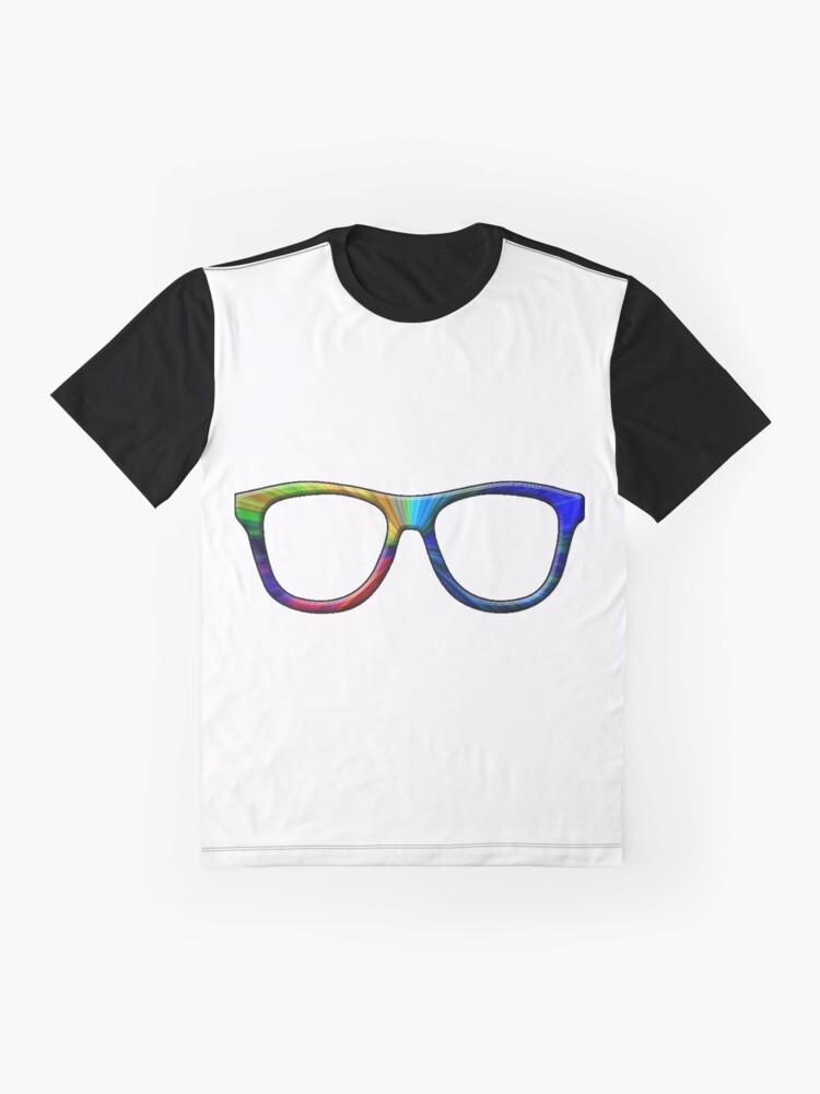 Alternate view of Rainbow Glasses Graphic T-Shirt