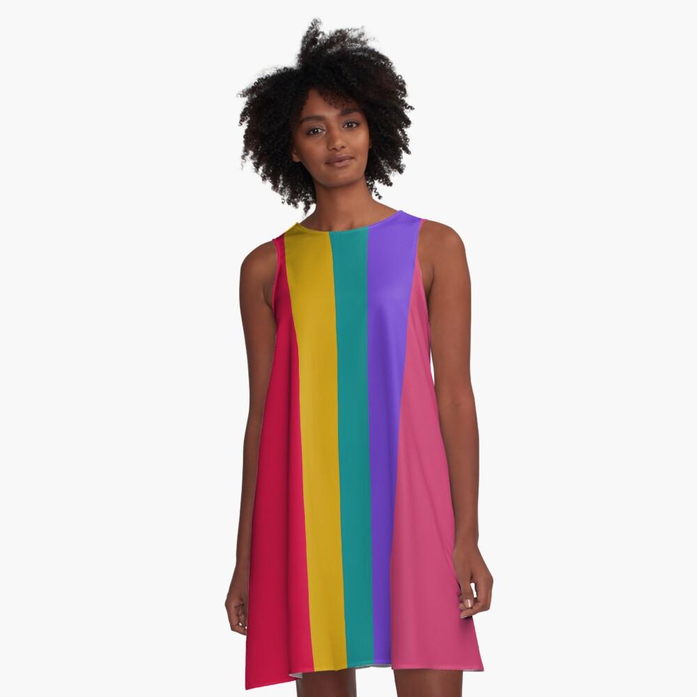 Spring Colors Design A-Line Dress