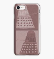 Daleks in negatives - brown iPhone Case/Skin