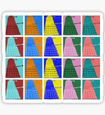 Pop art Daleks - variant 2 Sticker