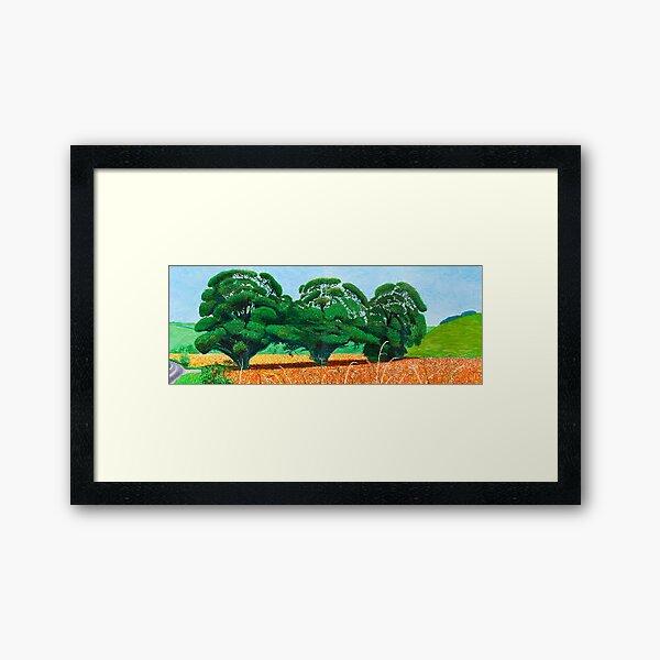 Three Tree spring Framed Art Print