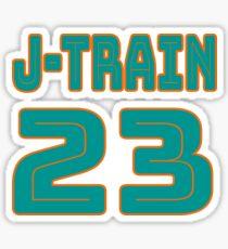 All Aboard the Ajayi J-Train Tshirt Sticker