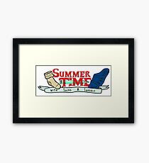Summer Time - Adventure time parody  Framed Print