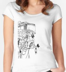 Japanese Mask House Women's Fitted Scoop T-Shirt