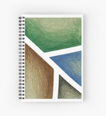 Composition in Forest Spiral Notebook