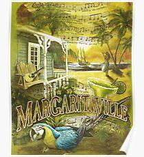 Margaritaville Poster Lyrics by Jimmy Buffett Poster