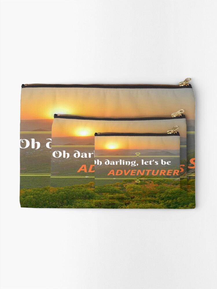 Alternate view of Oh Darling Let's Be Adventurers  Zipper Pouch