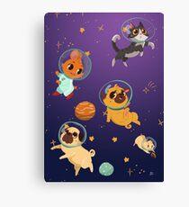 Space pets Canvas Print