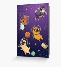 Space pets Greeting Card