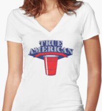True American Champion (Variant) Women's Fitted V-Neck T-Shirt