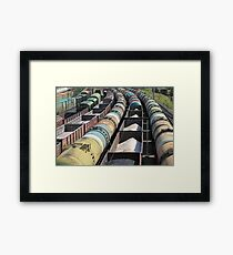 transportation of oil products by rail Framed Print