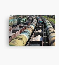 transportation of oil products by rail Canvas Print