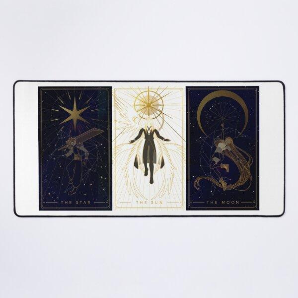 The star, The sun, The moon Desk Mat