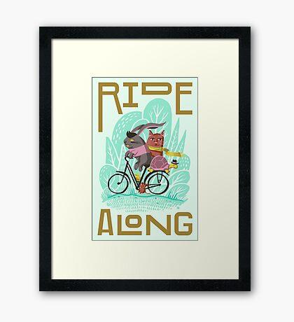 Ride Along Framed Print
