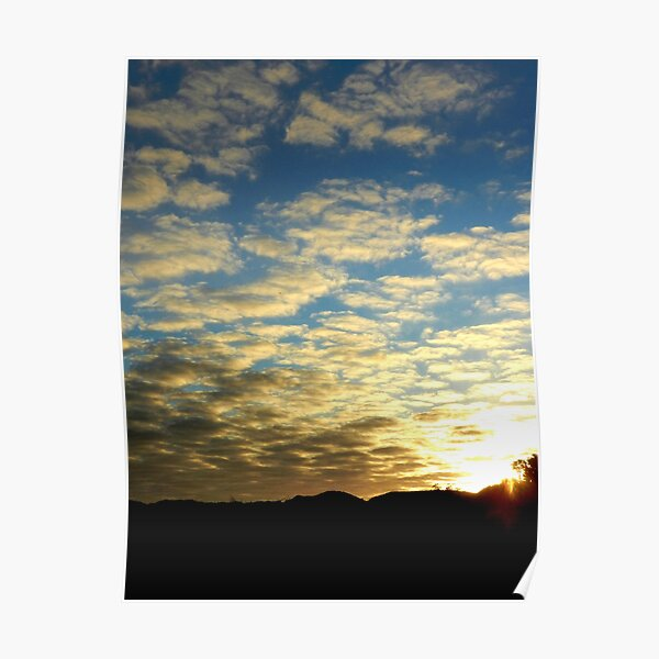 Blue sky sunset Poster