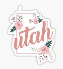 Utah Floral Sticker