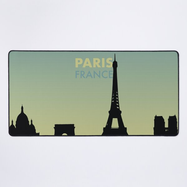 Paris City Skyline Art - France Gift Desk Mat