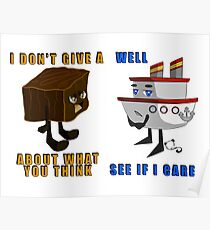 Fudge and Ship Poster