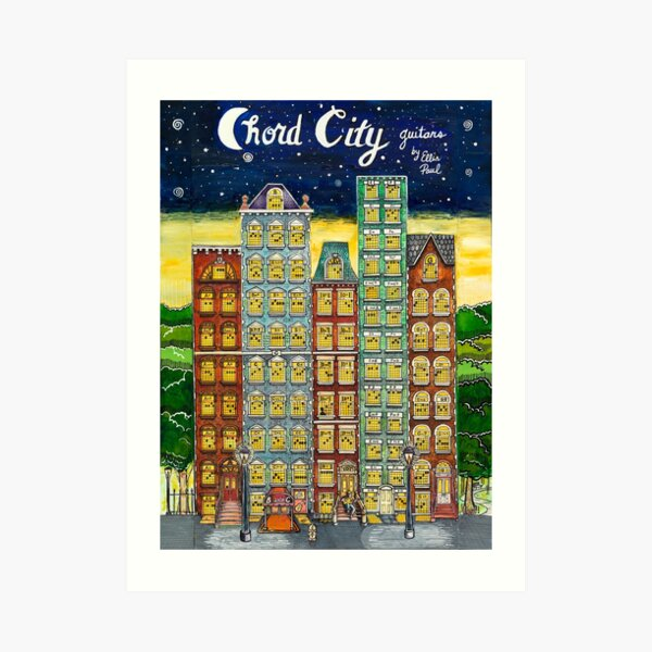 Chord City by Ellis Paul Art Print