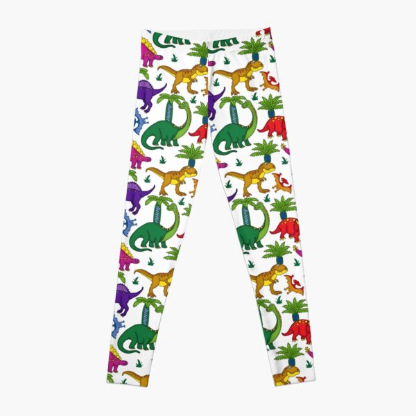 Dinosaurs Kids Colourful Dino Pattern Leggings
